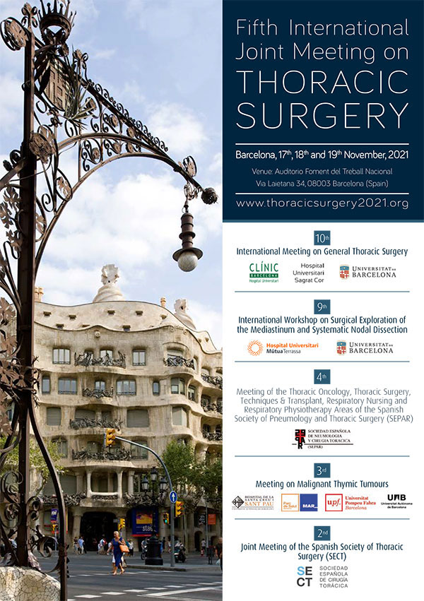 Fifth International Joint Meeting on THORACIC SURGERY 2021